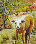 calf painting